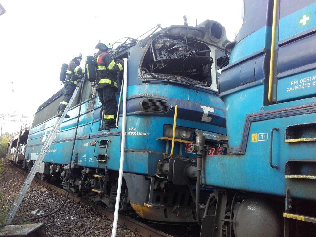 Požár lokomotivy