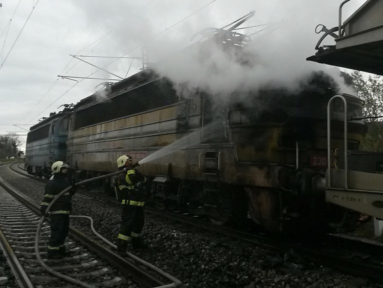 Dopravní nehody, požár lokomotivy