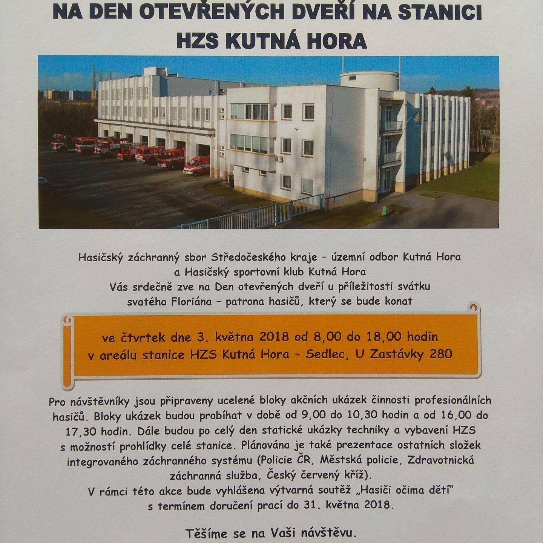 Den otevřených dveří na stanici HZS Kutná Hora