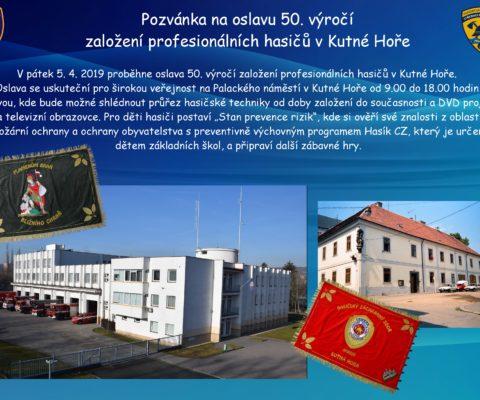 Výročí 50 let profesionálních hasičů v Kutné Hoře