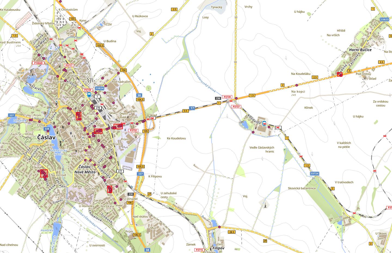 Mapy kriminality, dopravní nehodovosti a přestupků v dopravě za červenec 2019
